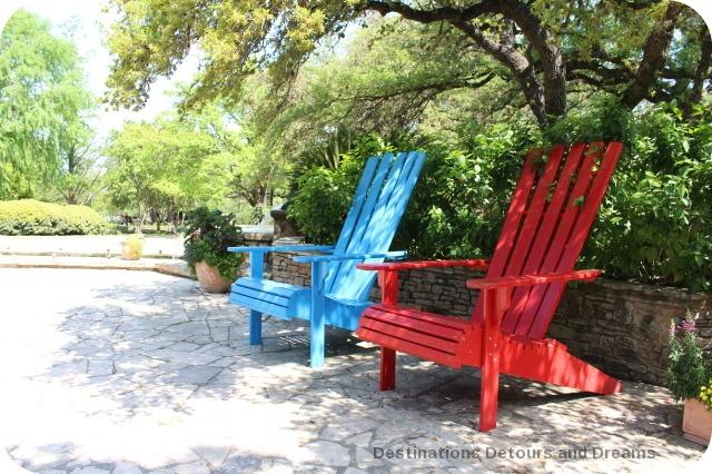 San ASntonio Botanical Garden chairs