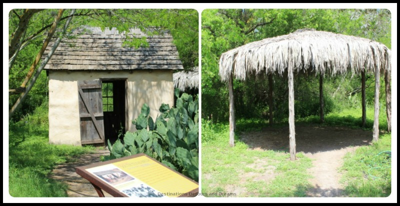 South Texas buildings at San Antonio Botanical Garden