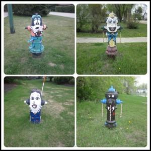 cartoon fire hydrants