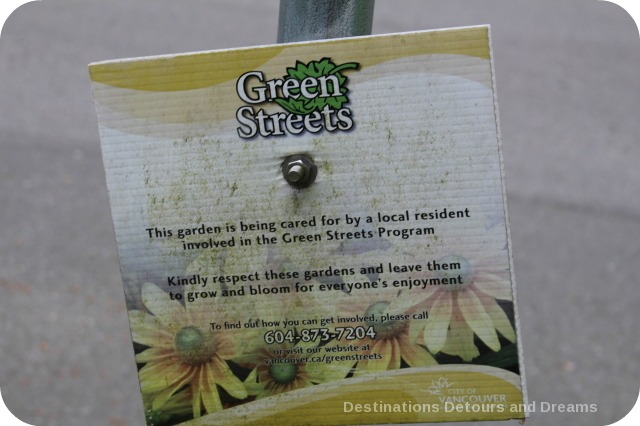 Vancouver Green Streets sign