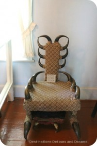 Bison horn chair