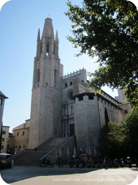Basilica of Sant Feliu, the first cathedral in Girona.The present day building was constructed between the 14th and 18th centuries.