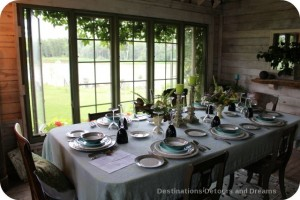 Garden dining shed