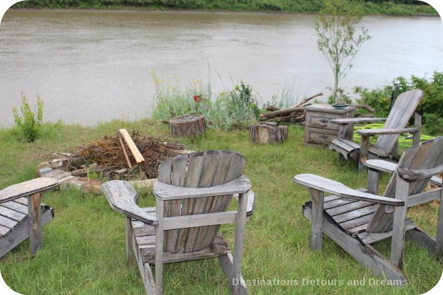Fire pit by the river