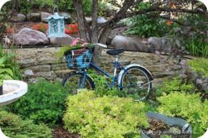 Bicycle garden planter