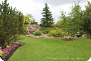 Garden inside dike