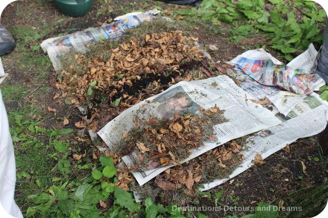 Lasagna garden demonstration