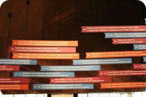 Time line at CMHR
