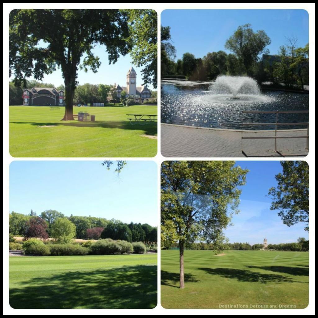 Views of Assiniboine Park on Heart of a Nation City Tour
