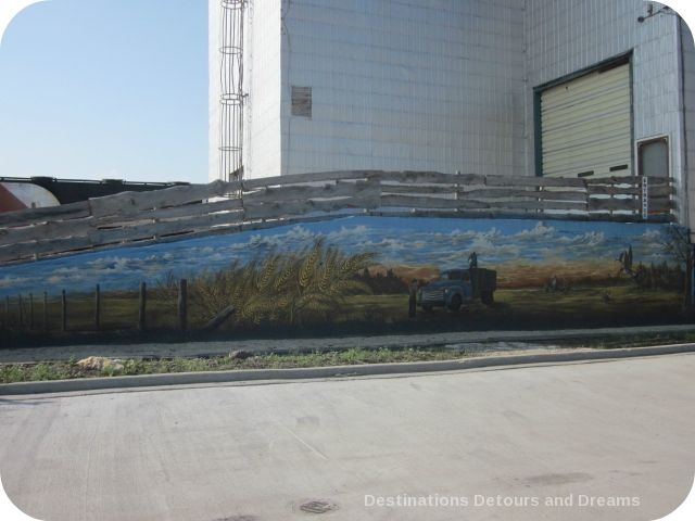 Mural on Plum Coulee Museum