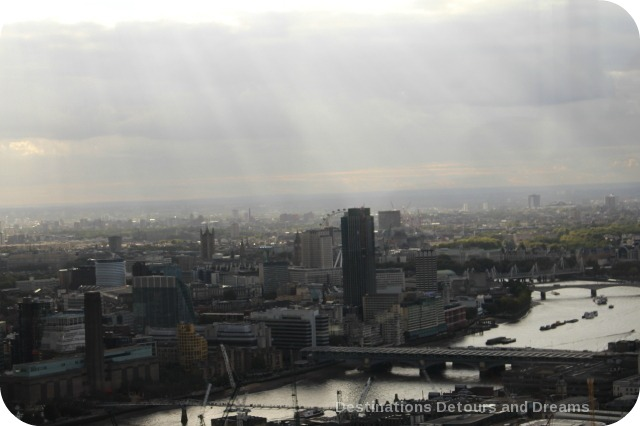 After tea high over London