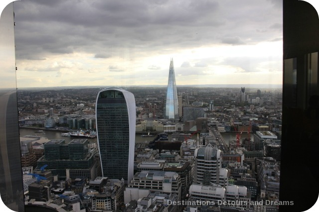 View from Vertigo 42 in London - afternoon tea