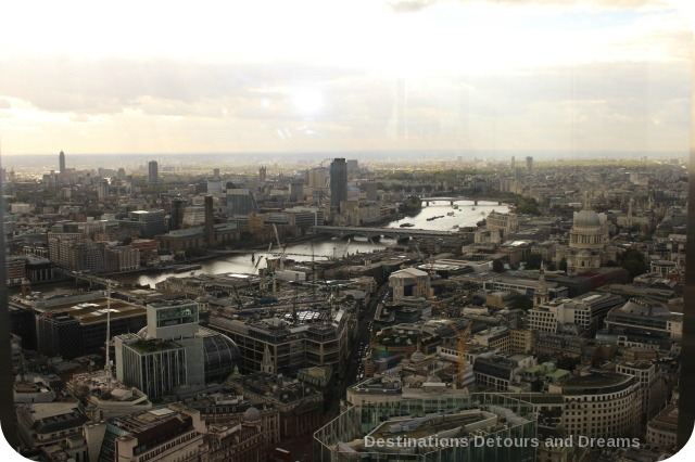 Afternoon tea high above London - view from Vertigo 42