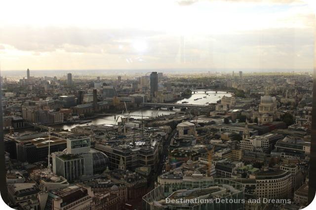 Afternoon tea high above London - view from Vertigo 42