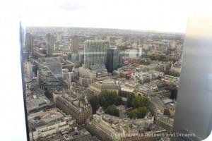 Afternoon Tea High Above London- view from Vertigo 42