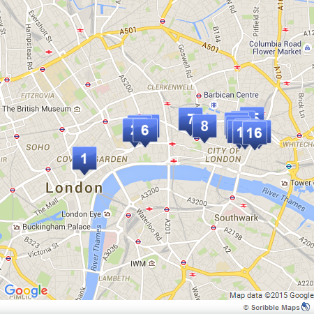 Bankers and Brokers London Tour map