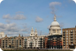 View of St. Paul's Cathedral from Bankside River Walk