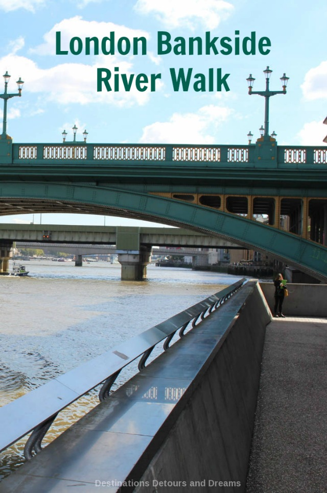 London Bankside River Walk: exploring the history of London on the south side of the Thames