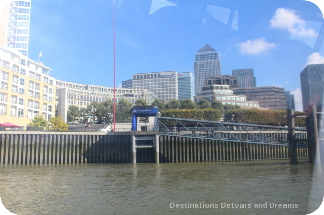 London from the Thames: Canary Whard