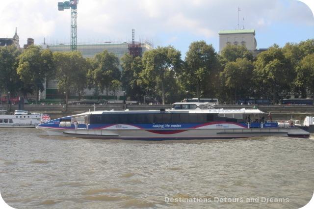 London Thames Clipper River Bus