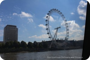 London from the Thames: London Eye