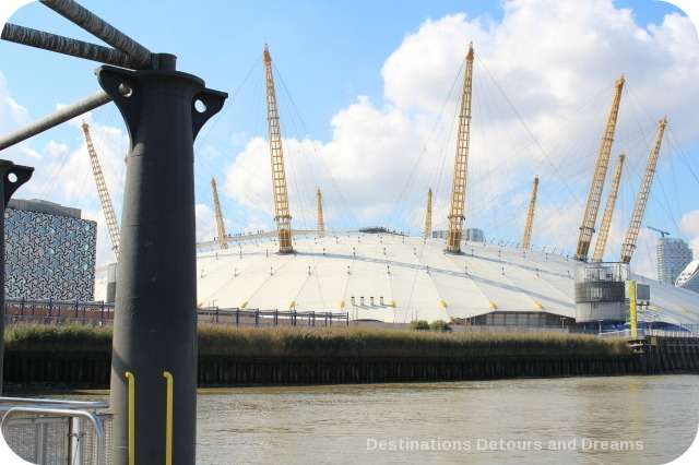 London from the Thames: the O2