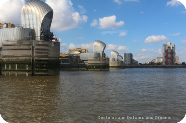 London from the Thames: Thames Barrier
