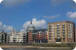 London from the Thames: St. Paul's Cathedral dome