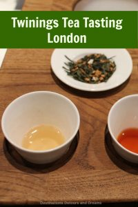 Twinings Tea Tasting: sampling teas at the oldest shop in the city of Westminster, England