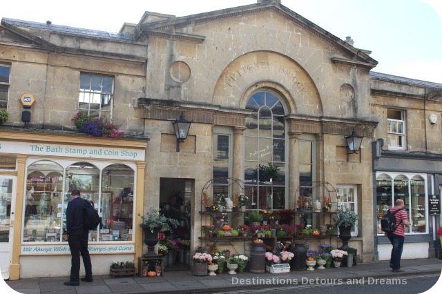 Shops on Pulteney Bridge, Bath, Somerset