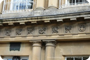 Symbols on stonework, Bath, Somerset