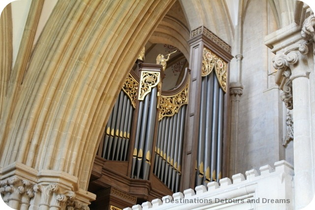 Wells Cathedral organ pipe