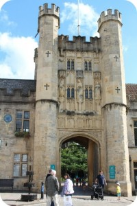 Medieval Cathedral City of Wells - Bishop's Palace Gate