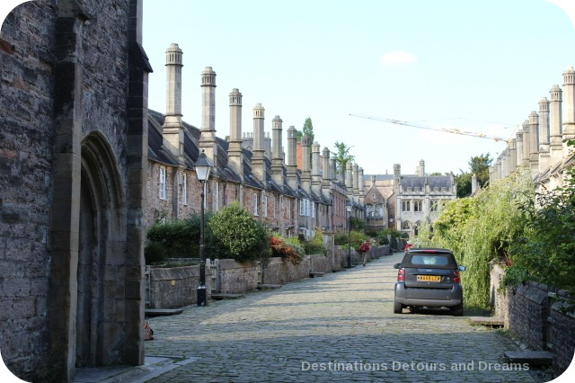 Vicar's Close in the medieval cathedral city of Wells