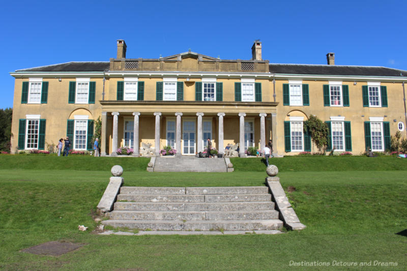 Front of the Polesden Lacey country manor house in Surrey, England