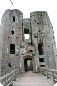 Raglan Castle entry to Great Tower