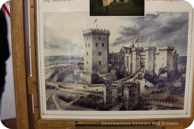 Drawing of Raglan Castle
