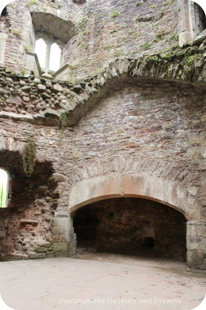 Raglan Castle kitchen fireplace