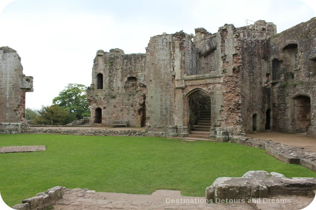 Raglan Castle staircase into Fountain Court