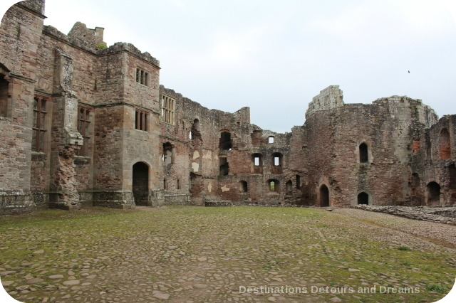 Raglan Castle Pitched Stone Court