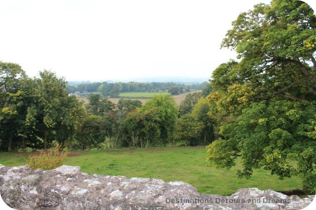Raglan Castle view