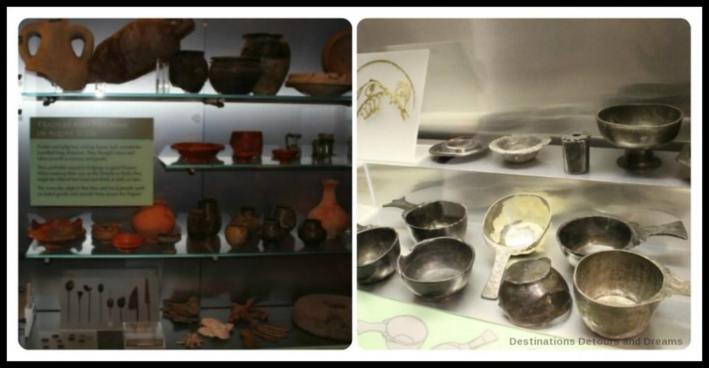 Displays at the Roman Baths in Bath