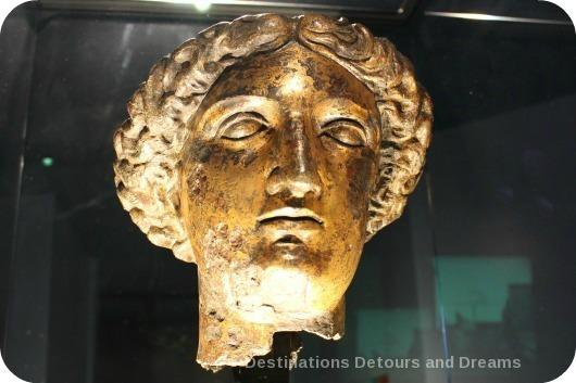 Roman Baths Goddess Sulus Minerva statue