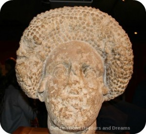 Stone lady at Roman Bath