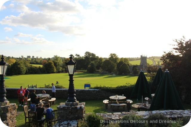 George Inn garden, Norton St. Philip, Somerset