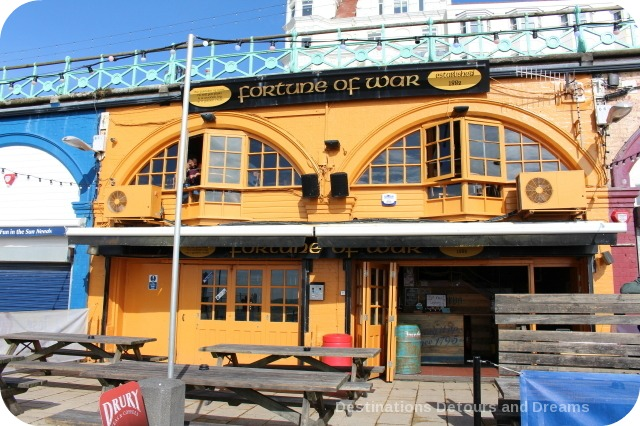 Brighton Fortune of War pub along lower Promenade