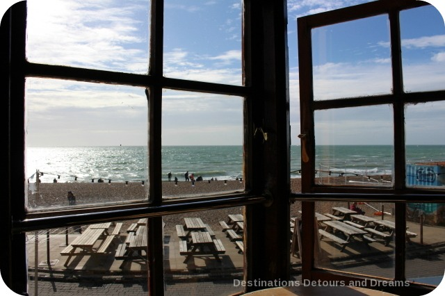 View from Fortune of War pub in Brighton