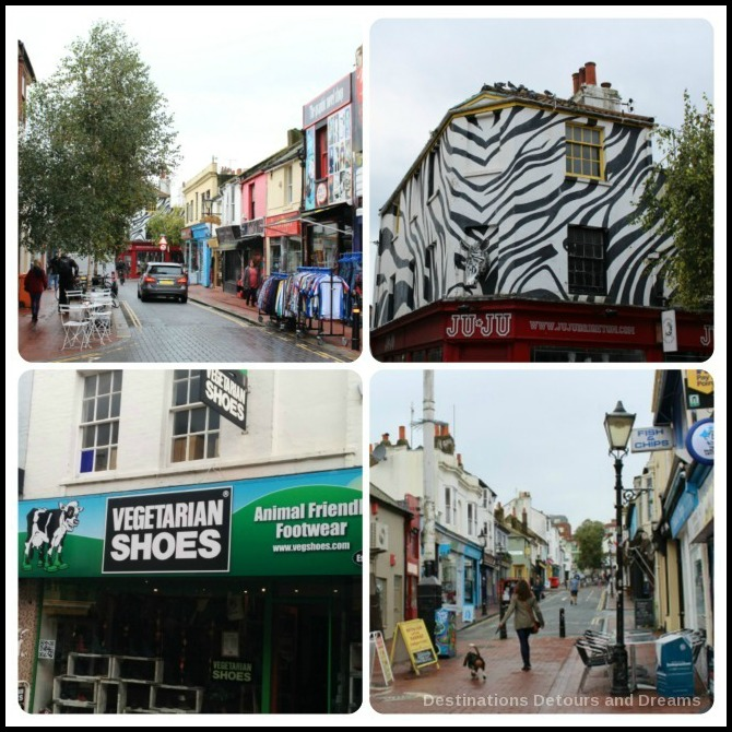 Brighton North Laine shopping area
