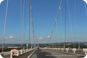 Severn Bridge into Wales