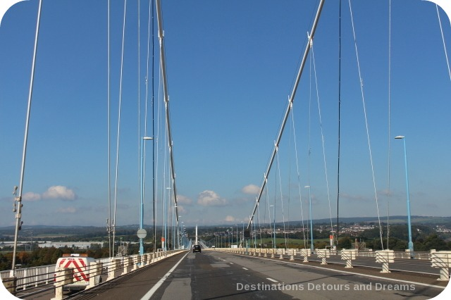 Severn Bridge into Wales